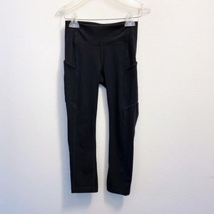 Lululemon Inspire Crop Black Size 2